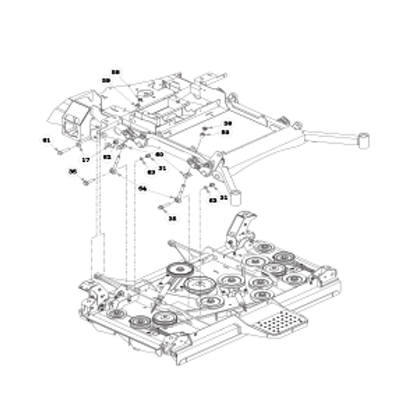 Parts lookup for HUSTLER SUPER 104 931733 - Deck Mounting Hardware - S/N 15096976 and higher (0780)