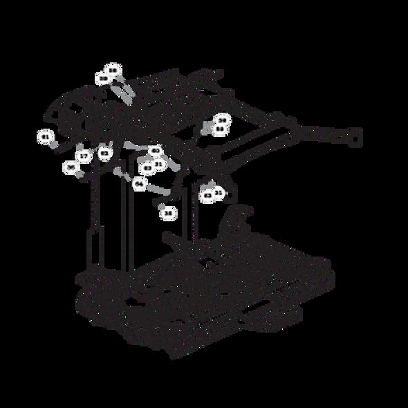 Parts lookup for HUSTLER SUPER 104 931931US - Deck Mounting Hardware - S/N 15096976 and higher (0846)