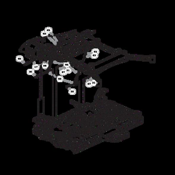 Parts lookup for HUSTLER SUPER 104 931931US - Deck Mounting Hardware - S/N prior to 15096976 (0847)