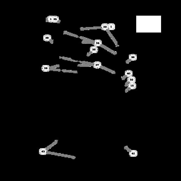 "Parts lookup for HUSTLER SUPER Z 934240 - 60"" Rear Discharge Deck Pulleys and Spindles (1789)"