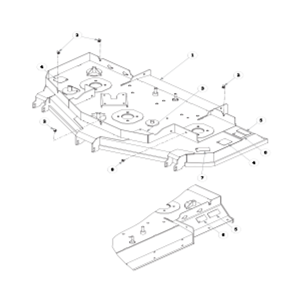 """Parts lookup for HUSTLER SUPER Z HD 932152EX - 60"""" Rear Discharge Service Deck"""
