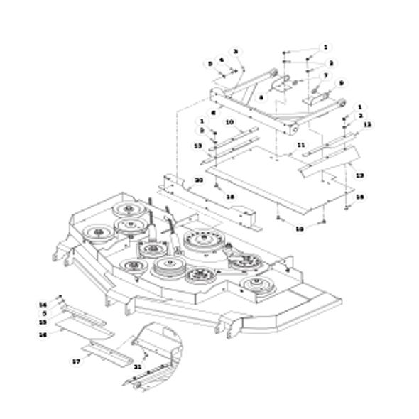 "Parts lookup for HUSTLER SUPER Z HD 932178EX - 60"" Rear Discharge Dust Shield"