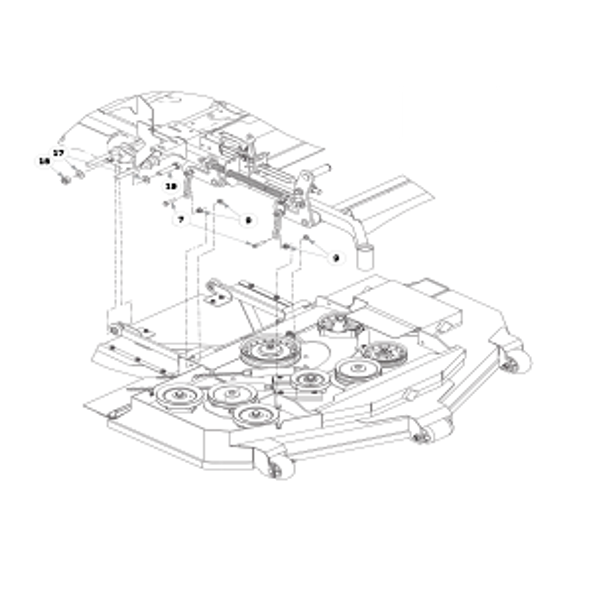 Parts lookup for HUSTLER SUPER Z HD 932186EX - Rear Discharge Deck Mounting Hardware
