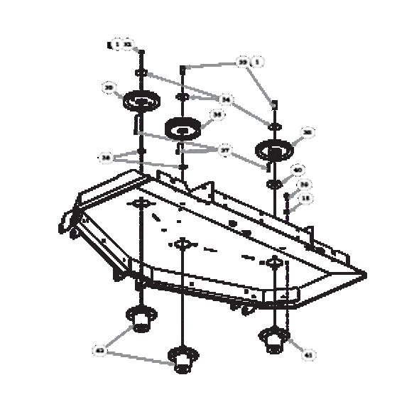 "Parts lookup for HUSTLER SUPER Z HD 932178EX - 60"" Rear Discharge Deck Pulleys and Spindles (1032)"