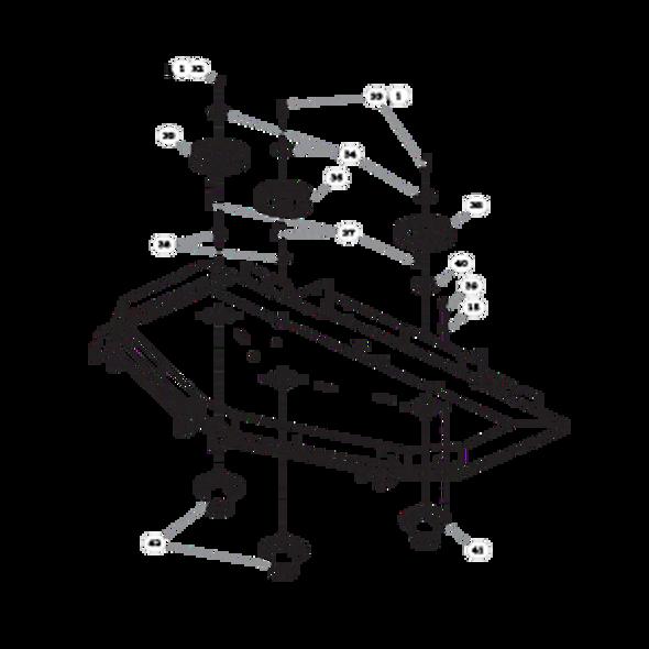 "Parts lookup for HUSTLER SUPER Z HD 934323EX - 60"" Rear Discharge Deck Pulleys and Spindles (1888)"