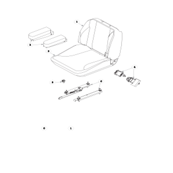 Parts lookup for HUSTLER X-ONE 934174 - Seat Service Parts Super Deluxe