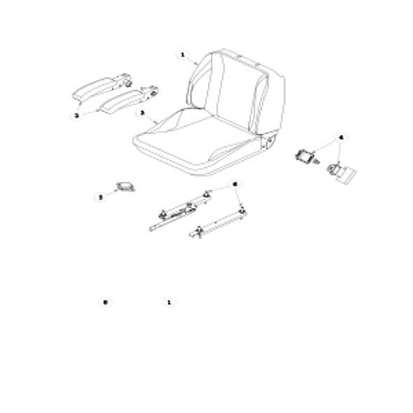 Parts lookup for HUSTLER X-ONE 933135EX - Seat Service Parts - super Deluxe