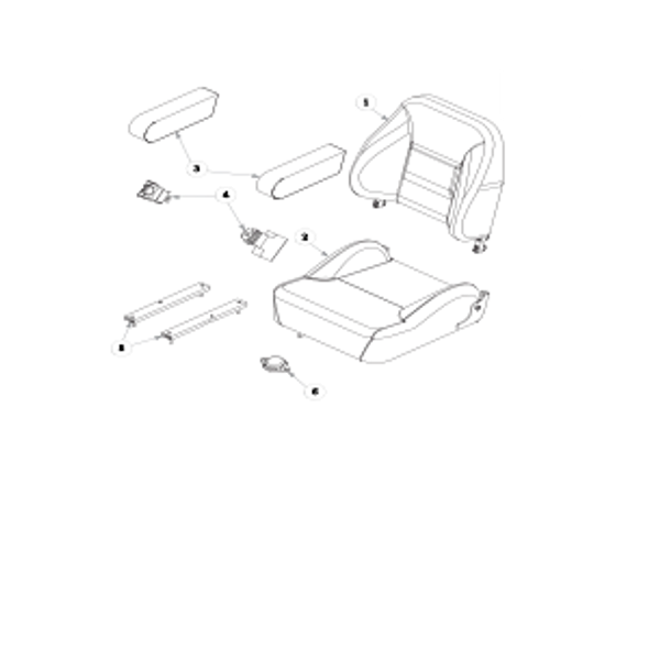 Parts lookup for HUSTLER FASTRAK 933432 - Seat Service Parts
