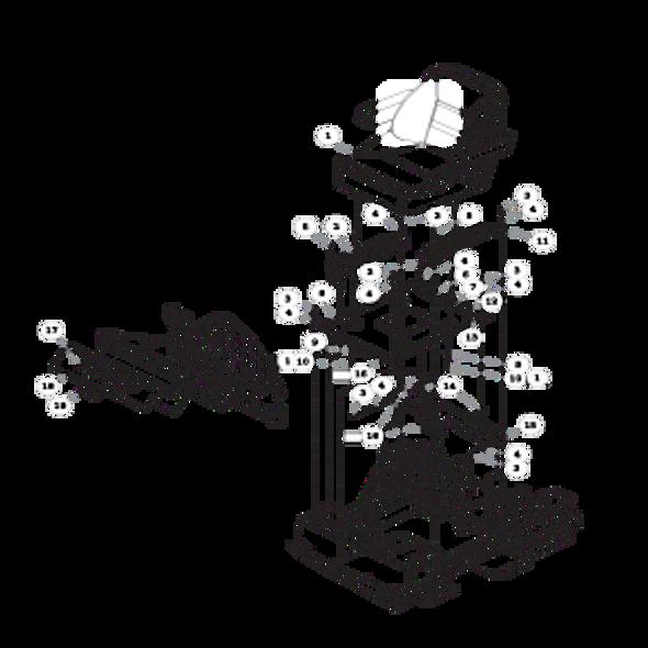 Parts lookup for HUSTLER FASTRAK 934851 - Seat and Footrest