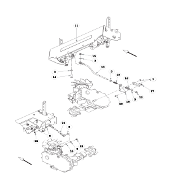 Parts lookup for HUSTLER FASTRAK 934851 - Steering (2039)
