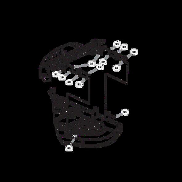 Parts lookup for HUSTLER FASTRAK 936104 - Rear Discharge Deck Lift (2350)