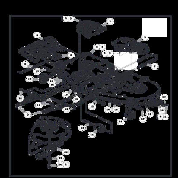"""Parts lookup for HUSTLER FASTRAK SD 933499 - 60"""" Deck"""