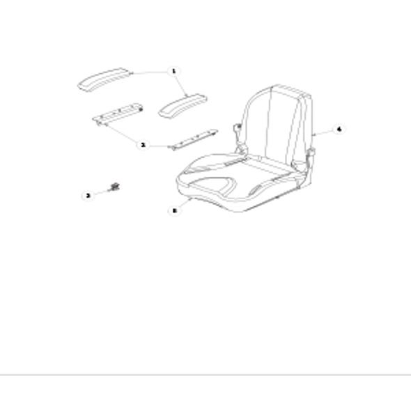 Parts lookup for HUSTLER RAPTOR FLIP-UP 933853US - Seat Service Parts