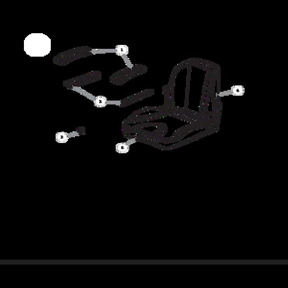 Parts lookup for HUSTLER RAPTOR FLIP-UP 934745 - Seat Service Parts
