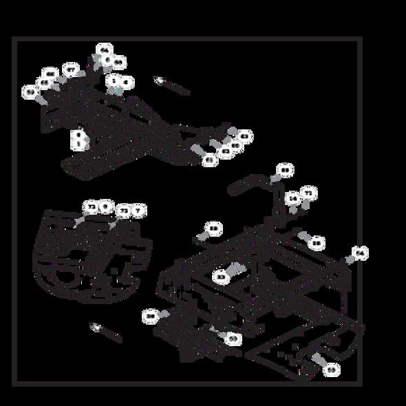 Parts lookup for HUSTLER RAPTOR FLIP-UP 933614 - Steering and Brake - S/N 16042182 and higher (1544)