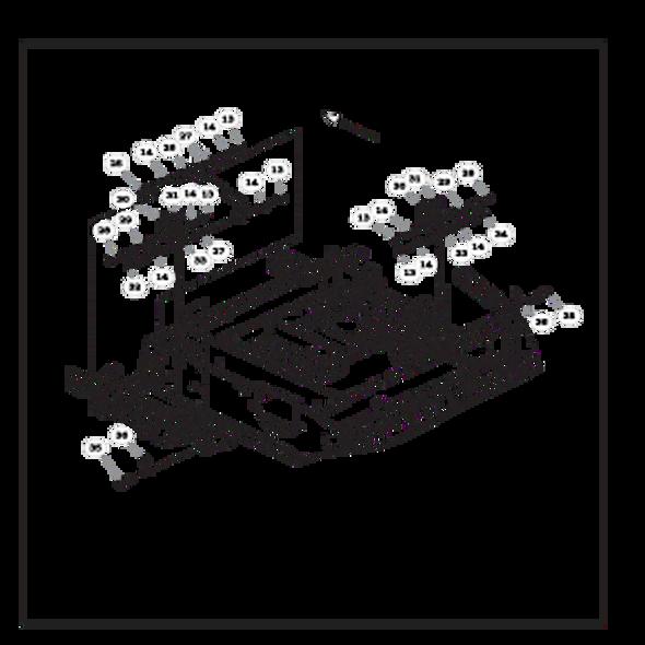 Parts lookup for HUSTLER RAPTOR FLIP-UP 933622 - Steering and Brake - S/N 16042182 and higher (1555)