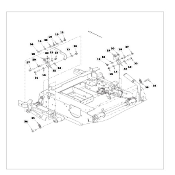 Parts lookup for HUSTLER RAPTOR FLIP-UP 933622 - Steering and Brake - S/N prior to 16042182 (1558)