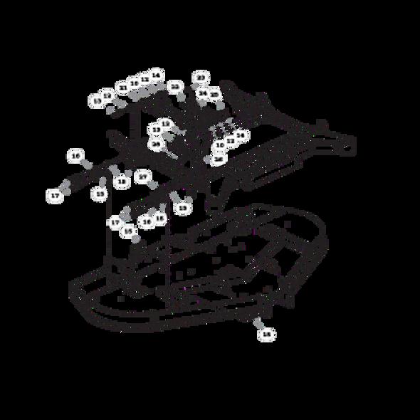 Parts lookup for HUSTLER RAPTOR FLIP-UP 933622 - Deck Carrier (1564)