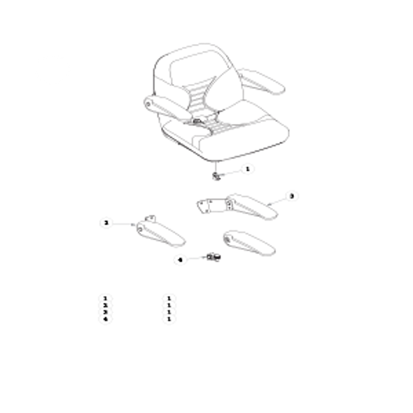 Parts lookup for HUSTLER RAPTOR FLIP-UP 935288EX - Seat Service Parts