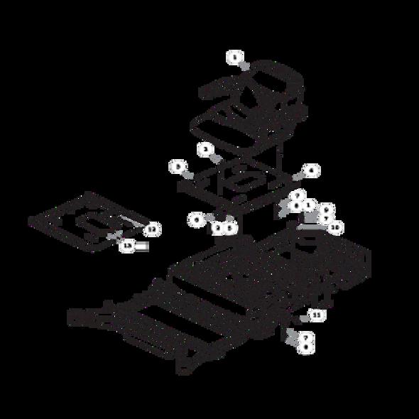 Parts lookup for HUSTLER RAPTOR FLIP-UP 935296EX - Seat