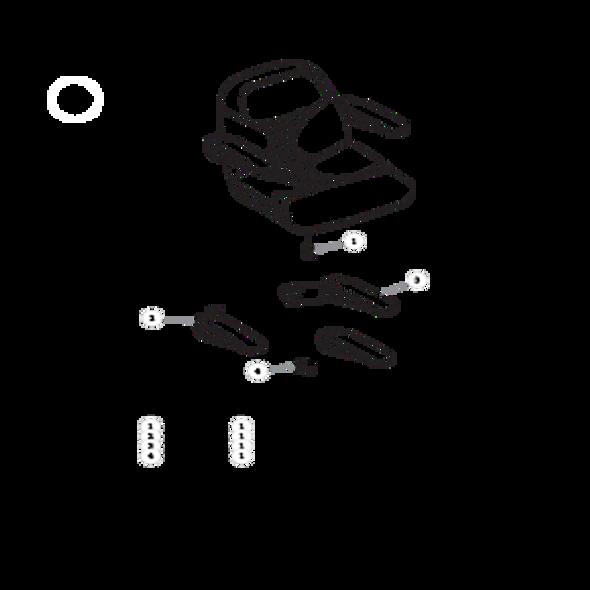 Parts lookup for HUSTLER RAPTOR FLIP-UP 935296EX - Seat Service Parts