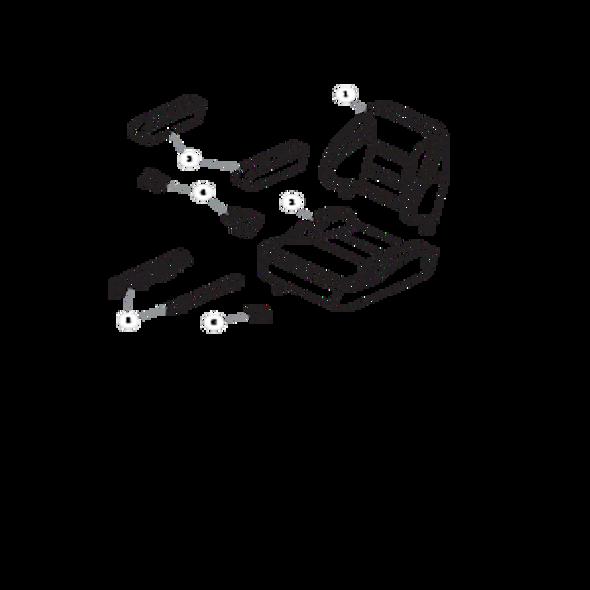 Parts lookup for HUSTLER FASTRAK SDX 933945 - Seat Service Parts - 605812