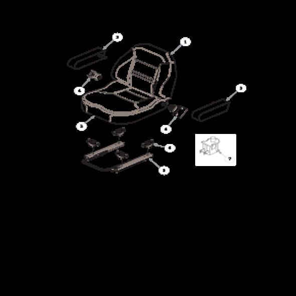 Parts lookup for HUSTLER FASTRAK SDX 933945 - Seat Service Parts - 606474