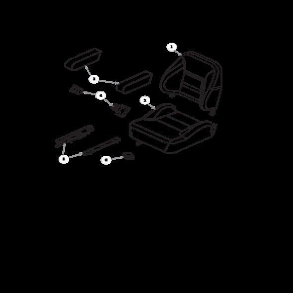 Parts lookup for HUSTLER FASTRAK SDX 934398US - Seat Service Parts - 605812