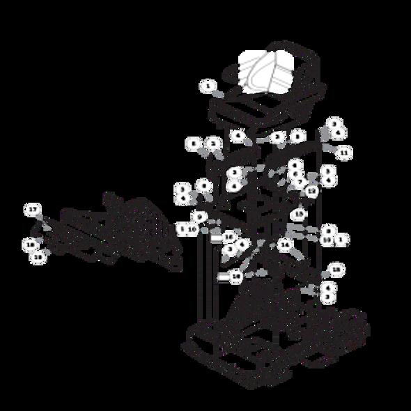 Parts lookup for HUSTLER FASTRAK SDX 936112 - Seat
