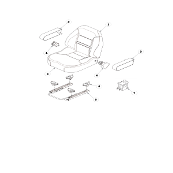 Parts lookup for HUSTLER FASTRAK SDX 936120 - Seat Service Parts - 606474