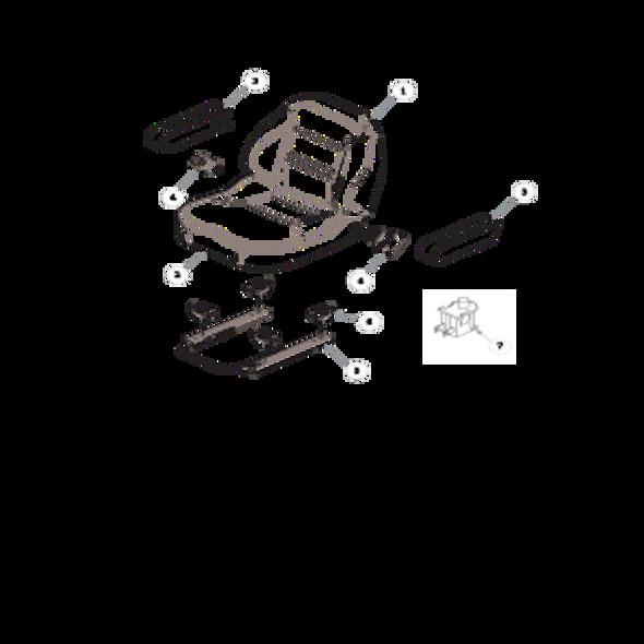 Parts lookup for HUSTLER FASTRAK SDX 936138 - Seat Service Parts - 606474