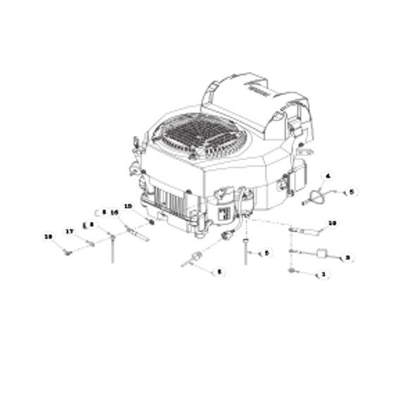 Parts lookup for HUSTLER FASTRAK SDX 933952 - Engine Kohler (1630)