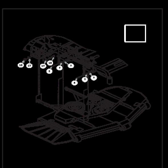 Parts lookup for HUSTLER SUPER Z 934992 - Deck Mounting Hardware