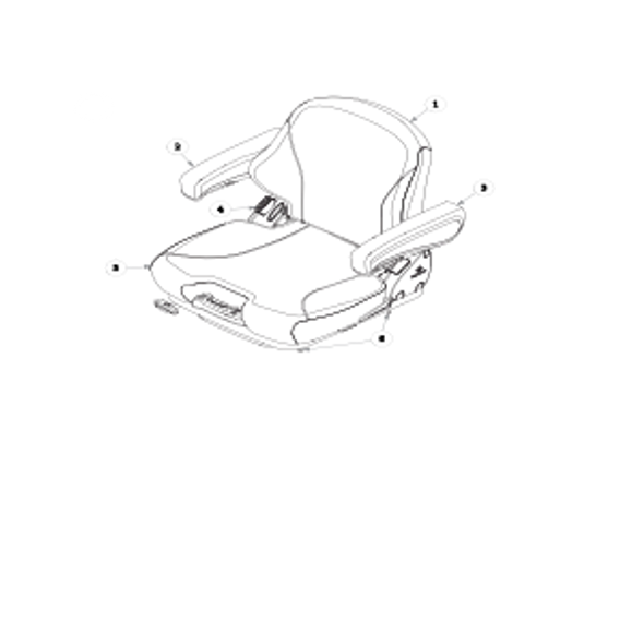 Parts lookup for HUSTLER SUPER Z 935015US - Seat Service Parts