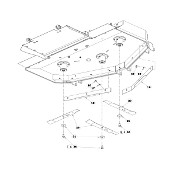 """Parts lookup for HUSTLER SUPER Z 935015US - 60"""" Rear Discharge Deck (2119)"""