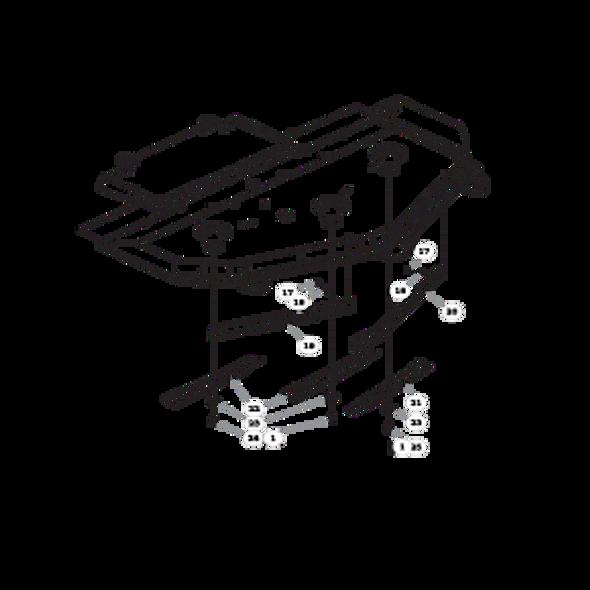 """Parts lookup for HUSTLER SUPER Z 935015US - 72"""" Rear Discharge Deck (2121)"""