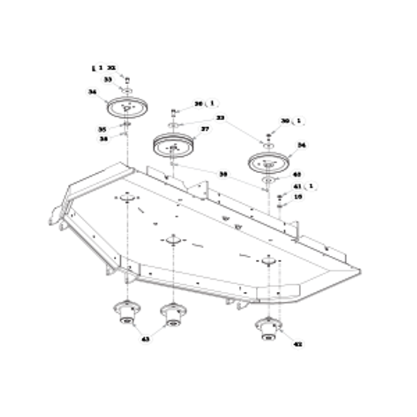 "Parts lookup for HUSTLER SUPER Z 935023US - 72"" Rear Discharge Deck Pulleys and Spindles (2134)"