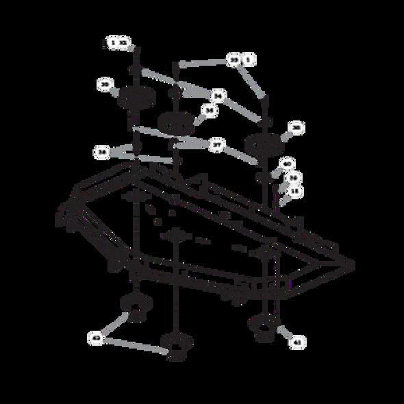 "Parts lookup for HUSTLER SUPER Z 935064 - 60"" Rear Discharge Deck Pulleys and Spindles (2160)"