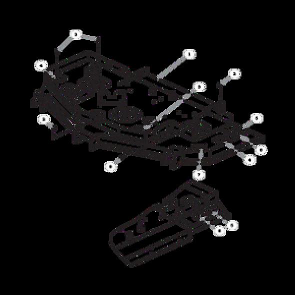 """Parts lookup for HUSTLER SUPER Z 938126EX - 60"""" Rear Discharge Service Deck"""