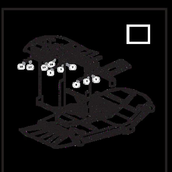 Parts lookup for HUSTLER SUPER Z HD 936625 - Deck Mounting Hardware