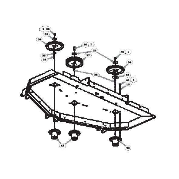 "Parts lookup for HUSTLER SUPER Z HD 934919 - 72"" Rear Discharge Deck Pulleys and Spindles (2056)"