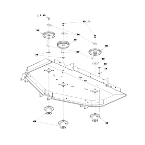 "Parts lookup for HUSTLER SUPER Z HD 934950 - 60"" Rear Discharge Deck Pulleys and Spindles (2078)"