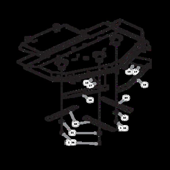 """Parts lookup for HUSTLER SUPER Z HD 934950 - 60"""" Rear Discharge Deck (2079)"""