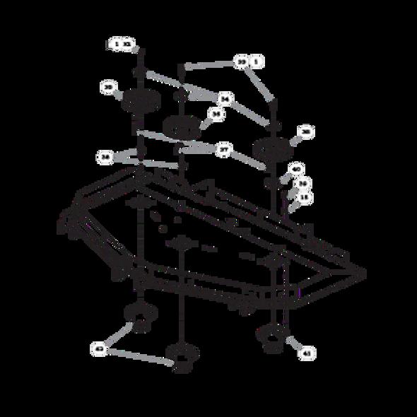 "Parts lookup for HUSTLER SUPER Z HD 936625 - 60"" Rear Discharge Deck Pulleys and Spindles (2568)"