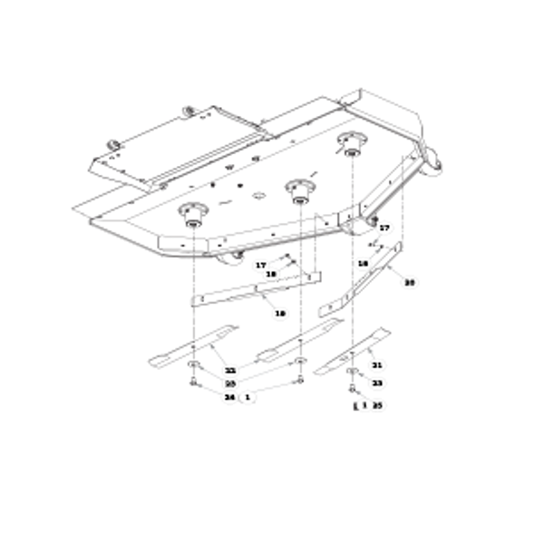 """Parts lookup for HUSTLER SUPER Z HD 936625 - 72"""" Rear Discharge Deck (2571)"""