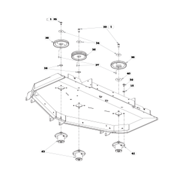 "Parts lookup for HUSTLER SUPER Z HD 935494EX - 60"" Rear Discharge Deck Pulleys and Spindles (2226)"