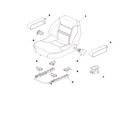 Parts lookup for HUSTLER X-ONE 936245US - Seat Service Parts