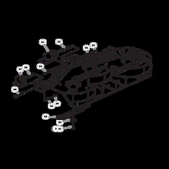 "Parts lookup for HUSTLER X-ONE 936260 - 52"" Side Discharge Deck (2439)"