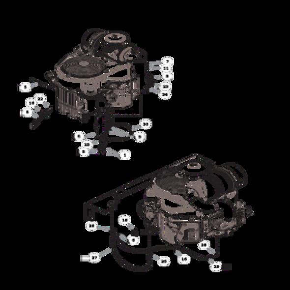Parts lookup for HUSTLER X-ONE 936286 - Engine Kawasaki FX730V (2465)