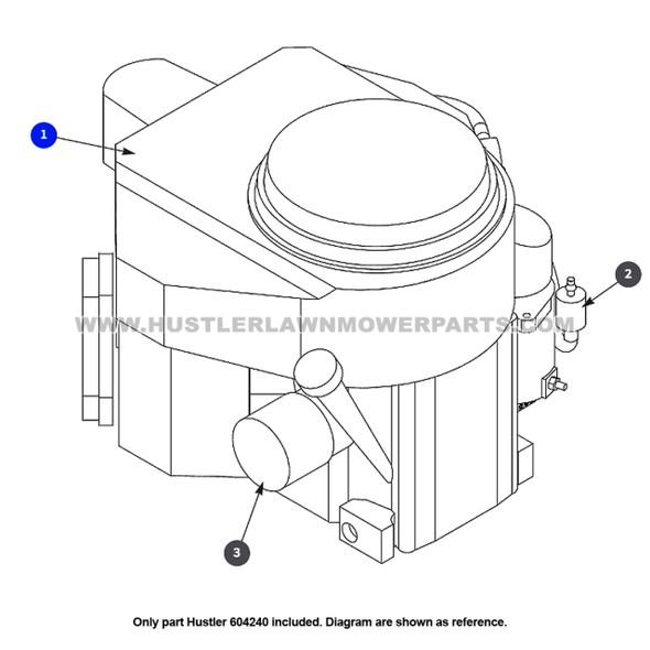 Parts lookup Hustler 601829 Lawn Mower Blade Spindle Shaft OEM diagram